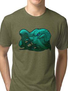 Octopus (Blue) Tri-blend T-Shirt