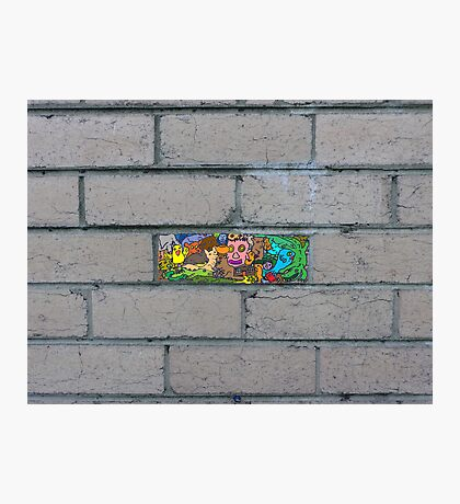 Just another brick in the wall Photographic Print