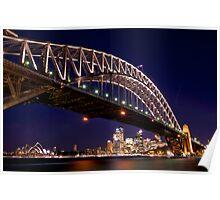 Nightfall at Harbour Bridge  Poster