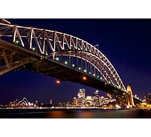 Nightfall at Harbour Bridge  Photographic Print