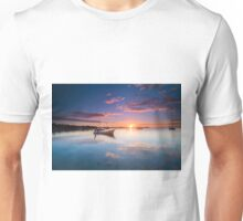 The Boat by the Docks - Belizean sunset Unisex T-Shirt