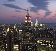 New York, Empire State Building at Dusk by FangFeatures