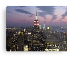 New York, Empire State Building at Dusk Metal Print