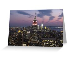 New York, Empire State Building at Dusk Greeting Card