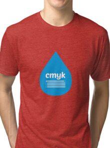 Cyan blob Tri-blend T-Shirt