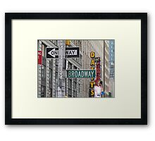 New York Street Signs Framed Print