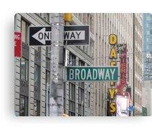 New York Street Signs Metal Print