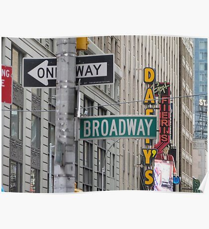 New York Street Signs Poster