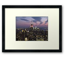 Empire State Building, New York Framed Print