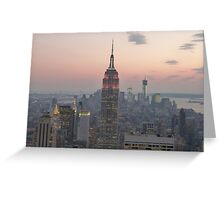 Empire State Building, New York Greeting Card