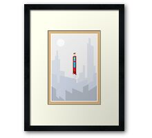 Superman minimal design Framed Print
