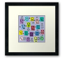 Pastel characters. Framed Print
