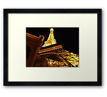 Las Vegas Street view at night Framed Print