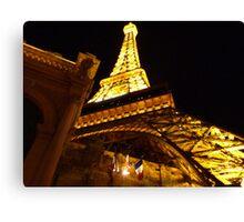 Las Vegas Street view at night Canvas Print