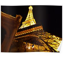 Las Vegas Street view at night Poster