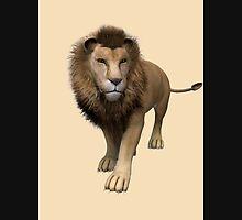 Male Lion Mens V-Neck T-Shirt
