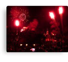 Disneyland Fireworks Canvas Print