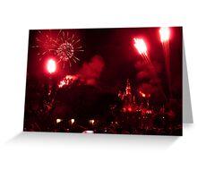 Disneyland Fireworks Greeting Card