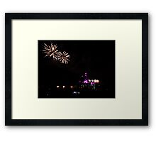 Fireworks at Disneyland Framed Print
