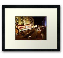 Vegas Street at Night Framed Print