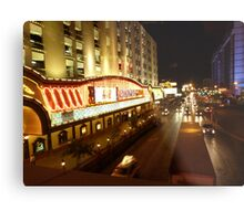 Vegas Street at Night Metal Print