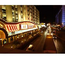Vegas Street at Night Photographic Print