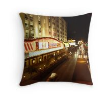 Vegas Street at Night Throw Pillow