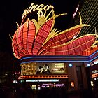 Las Vegas, The Flamingo at night. by FangFeatures