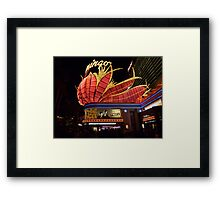 Las Vegas, The Flamingo at night. Framed Print
