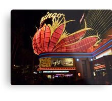 Las Vegas, The Flamingo at night. Metal Print