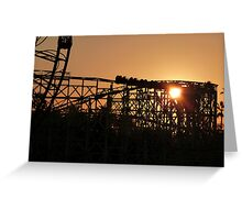Rollercoaster at dusk Greeting Card