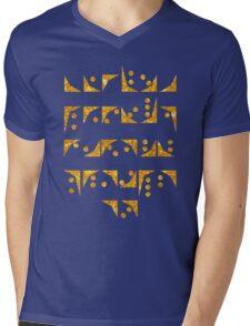 Nox font Stargate typography golden texture Mens V-Neck T-Shirt