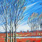 blauer wind über rot by HannaAschenbach