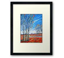 blauer wind über rot Framed Print