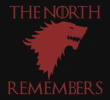 Game Of Thrones - The North Remembers (Red) by JcDesign