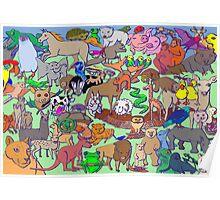 World Wildlife - Coloured Poster