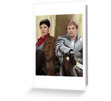 Merlin and Arthur Greeting Card