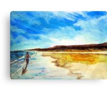 Shoreline saunter Canvas Print