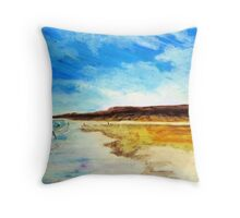 Shoreline saunter Throw Pillow