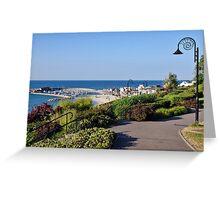 July Morning ~ Lyme Regis Greeting Card