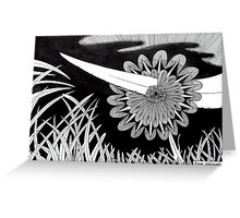 243 - THE PIERCED FLOWER - DAVE EDWARDS - INK - 2013 Greeting Card
