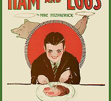 HAM AND EGGS (vintage illustration) by ART INSPIRED BY MUSIC