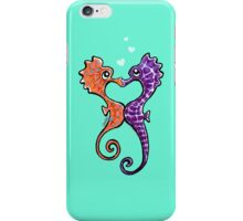Seahorse Bubble Kisses iPhone Case/Skin