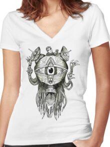 The Eye T-Shirt Women's Fitted V-Neck T-Shirt