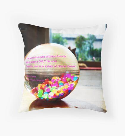 ACIM # 3 Grace Throw Pillow