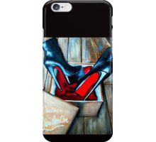 Christian Louboutin Red Bottom Boot in a Box iPhone Case/Skin