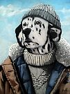 MAN OF THE SEA - Dalmatian dog portrait  by LindaAppleArt