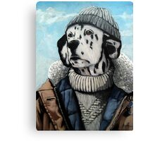 MAN OF THE SEA - Dalmatian dog portrait  Canvas Print