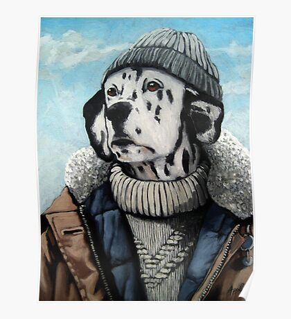 MAN OF THE SEA - Dalmatian dog portrait  Poster