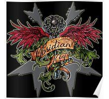 Obsidian Key - Winged Key, Skull and V shaped guitars - Progressive Rock Metal Music Poster